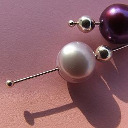 This pen with silver earring drops with freshwater pearls from Headpin Neus-Shop enlarge detail