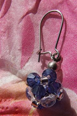 This earring blue Swarovski BiCon Shop by Neus enlarge closer look